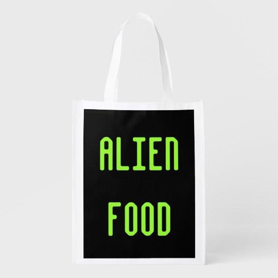Alien Food Reusable Grocery Tote Bag Gift