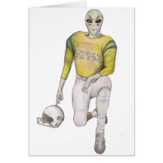 Alien Football Player Card