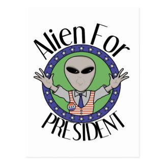 Alien For President Postcard