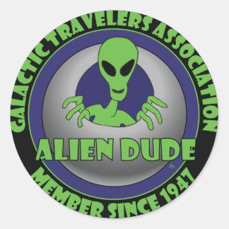 ALIEN GALAXY #1 CLASSIC ROUND STICKER