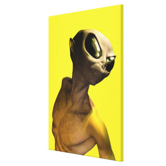 Alien Gallery Wrapped Canvas