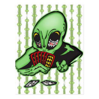 Alien Gambler Post Cards
