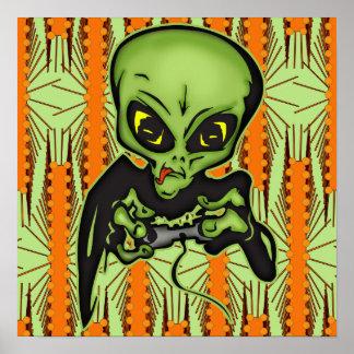 Alien Gamer Posters