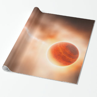 Alien Gas Giant Planet Space Art Wrapping Paper