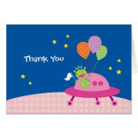 Alien Girl Thank You Note Card