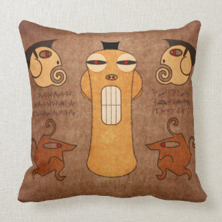 Alien gods throw pillow