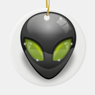 Alien Gray Design#2 Christmas Ornament