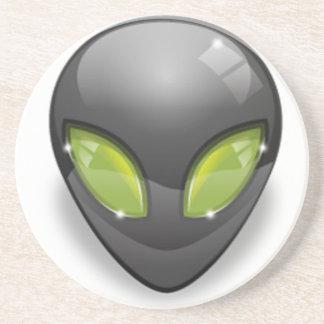Alien Gray Design#2 Coaster