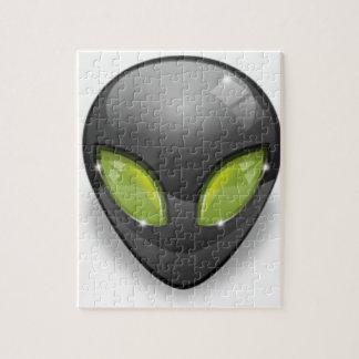Alien Gray Design#2 Jigsaw Puzzle