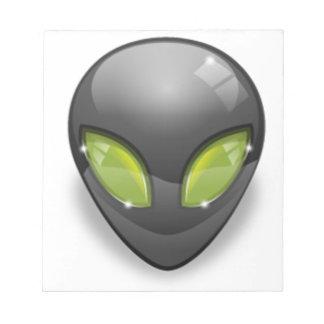 Alien Gray Design#2 Notepad