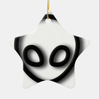 Alien Gray Design Ceramic Star Decoration