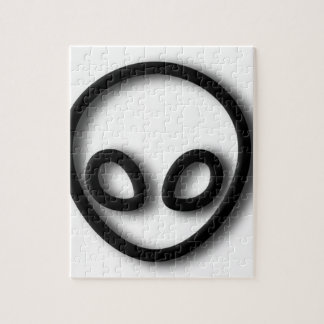 Alien Gray Design Jigsaw Puzzle