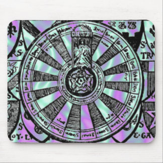 Alien Green, King Arthur-Knights-Table Mouse Pad