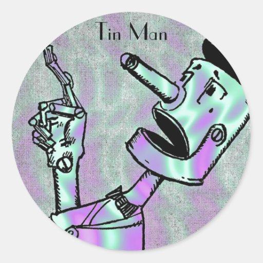 Alien Green, Tin Man Sticker