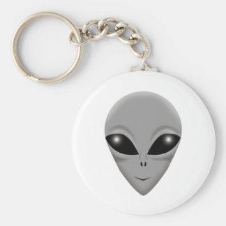 Alien Grey Key Ring