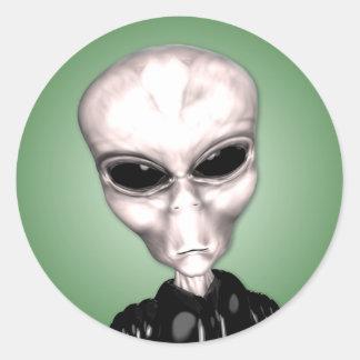 Alien Grey Sticker