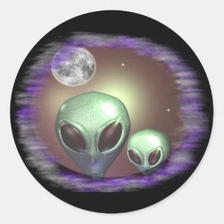 Alien Greys Items Classic Round Sticker