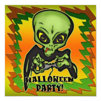 Alien Halloween Party Invitation