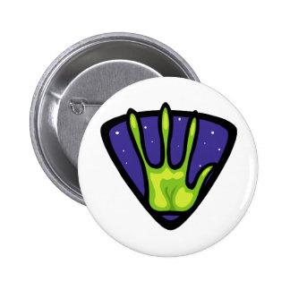 Alien Hand Print Pins
