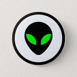 Alien Head 6 Cm Round Badge