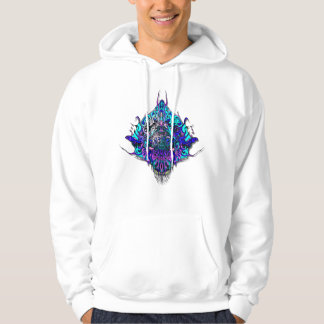 Alien Head Evil Species # 44 - blue and purple Hoodie