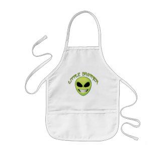 Alien Head Little Brother Kids Apron
