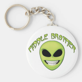 Alien Head Middle Brother Key Chains