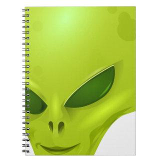Alien Head Notebook