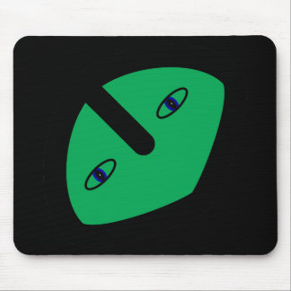 Alien Head on Green Mouse Pads