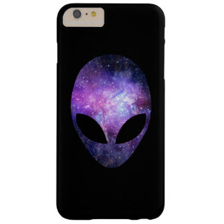Alien Head With Conceptual Universe Purple Barely There iPhone 6 Plus Case