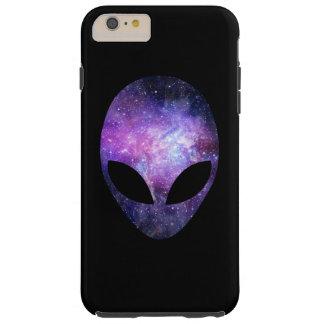 Alien Head With Conceptual Universe Purple Tough iPhone 6 Plus Case