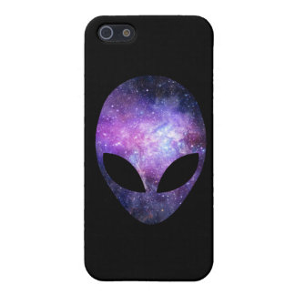 Alien Head With Conceptual Universe Purple Case For iPhone 5/5S