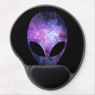 Alien Head With Conceptual Universe Purple Gel Mouse Mat