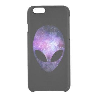 Alien Head With Conceptual Universe Purple iPhone 6 Plus Case