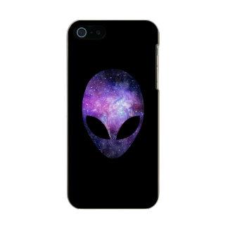 Alien Head With Conceptual Universe Purple Incipio Feather® Shine iPhone 5 Case