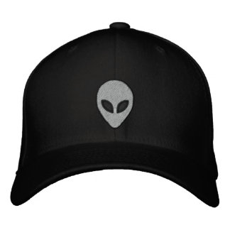 Alien heads Embroidered hat (front and back)