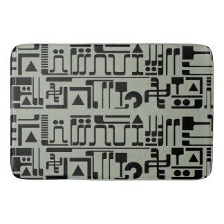 Alien Hieroglyphs Bath Mats
