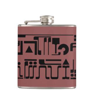 Alien Hieroglyphs Flask