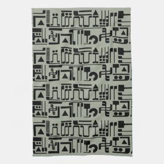 Alien Hieroglyphs Kitchen Towel