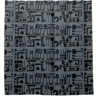 Alien Hieroglyphs Shower Curtain