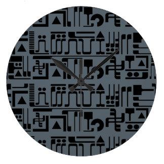Alien Hieroglyphs Wall Clock