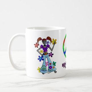 Alien Hippy Basic White Mug