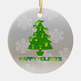 Alien Holiday Tree Christmas Ornament