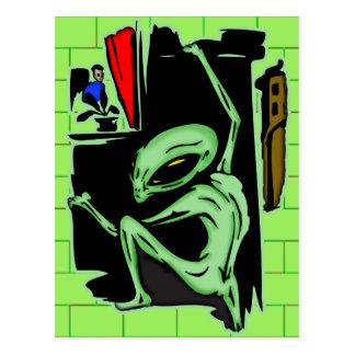 Alien Home Invasion Postcard