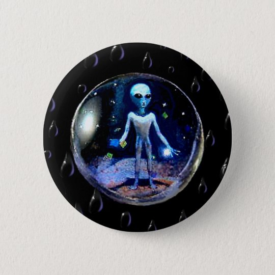 Alien in a Bubble - Round 6 Cm Round Badge