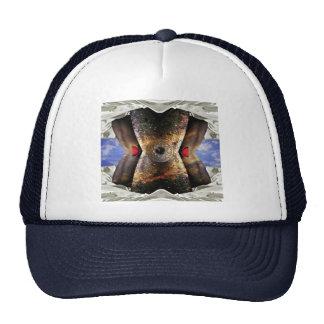 alien in bed trucker hat