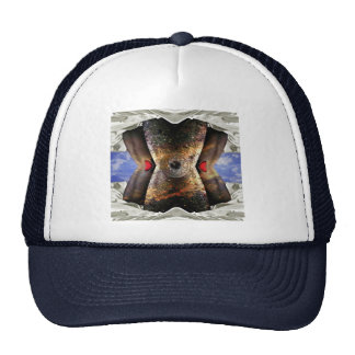 alien in bed trucker hats