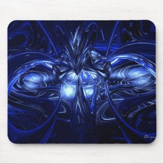 Alien in blue mouse mat