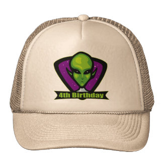 Alien Invader 4th Birthday Gifts Hats