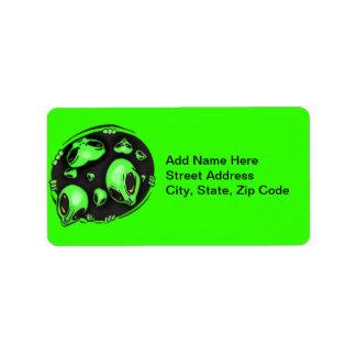 Alien Invasion Address Label